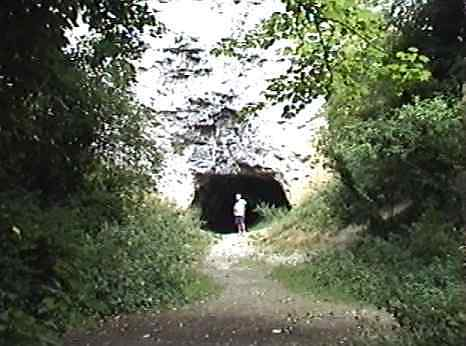 The old quarry cave (with Steve)