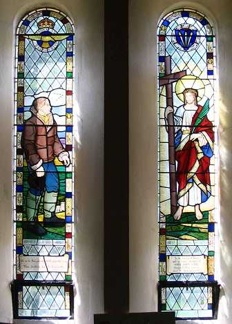Double stained glass window