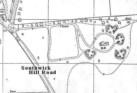 1965 map of the Southwick HAA site