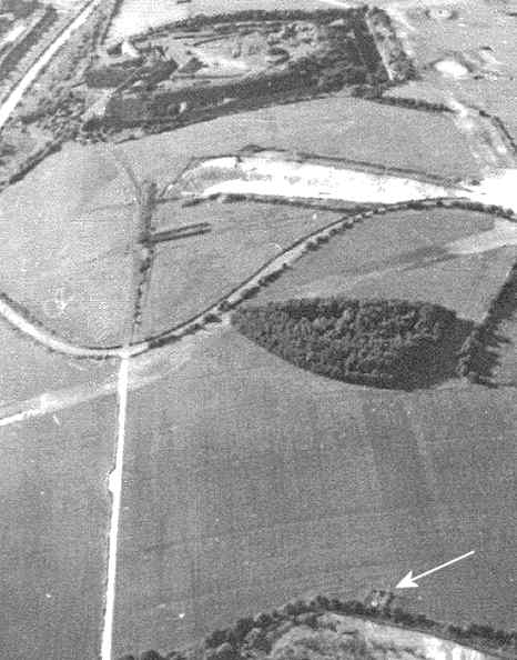 1969 aerial photo of the ROC post