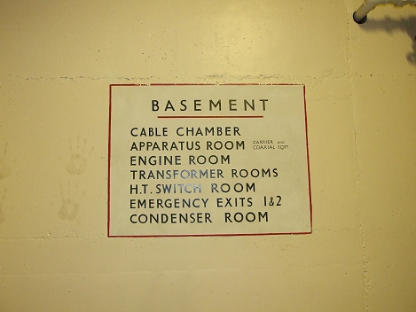 Basement sign
