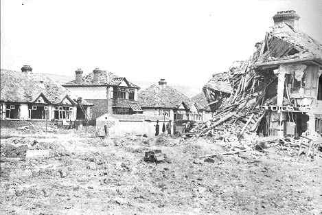 Portchester bomb site 1944
