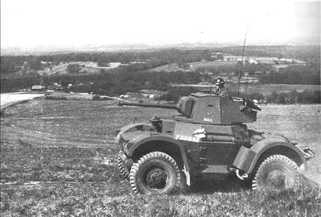 Daimler armoured car on Portsdown