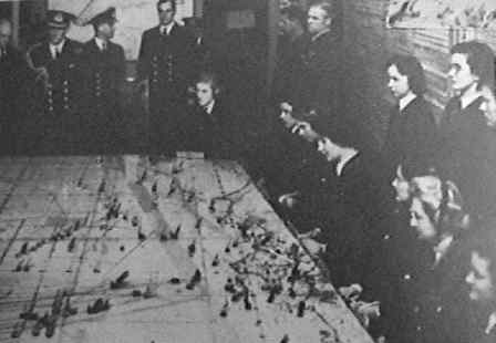 Naval plotting room and King George VI