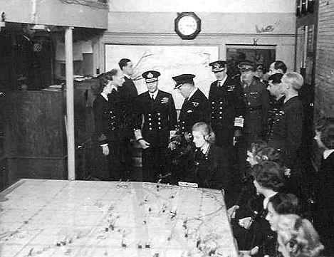 King George VI in the Plotting Room