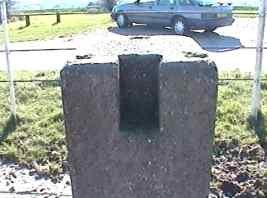 plinth west of  Fort Widley - close up