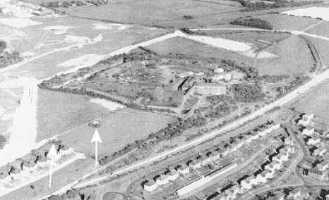 1969 aerial photo Fort Purbrook