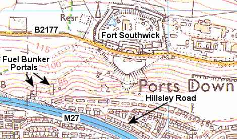 Map of the Hillsley Road area