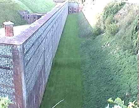 The north ditch of Fort Nelson
