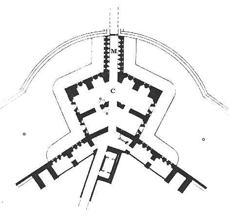 Fort purbrook north east Caponier plan